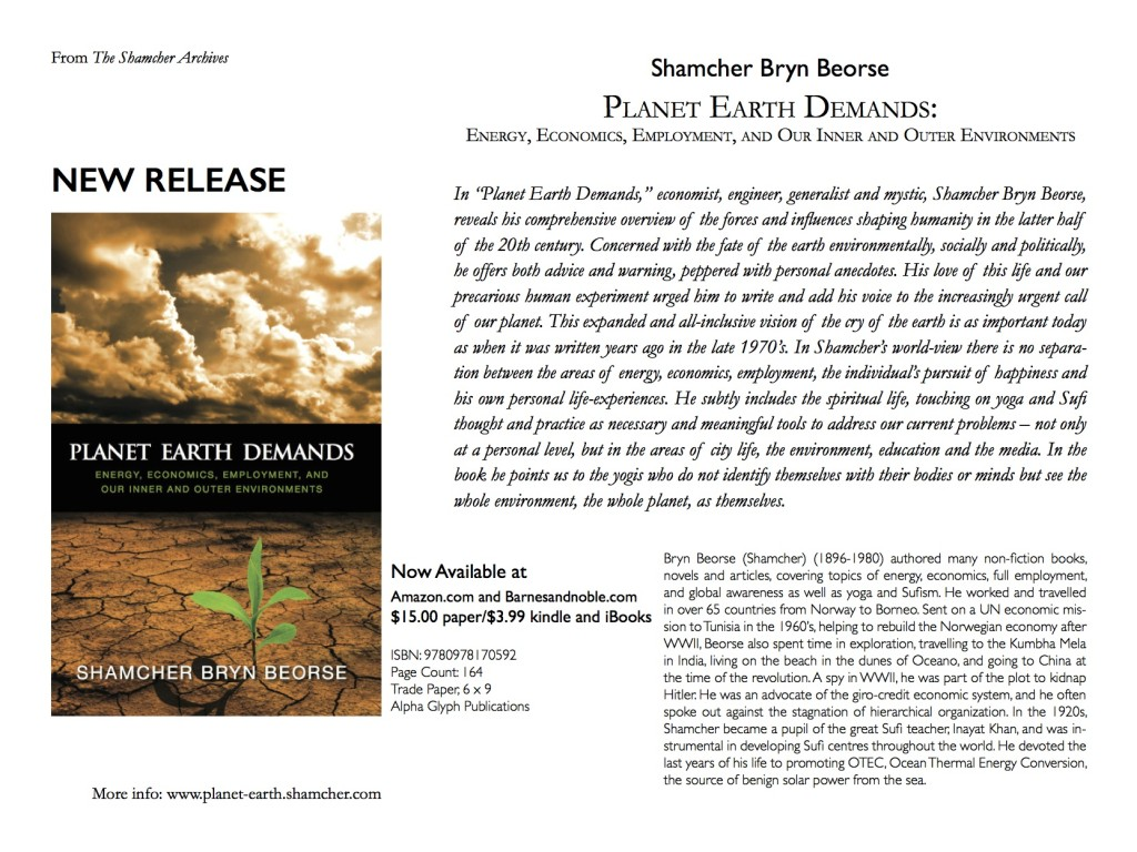 Planet Earth Demands - Flyer 1